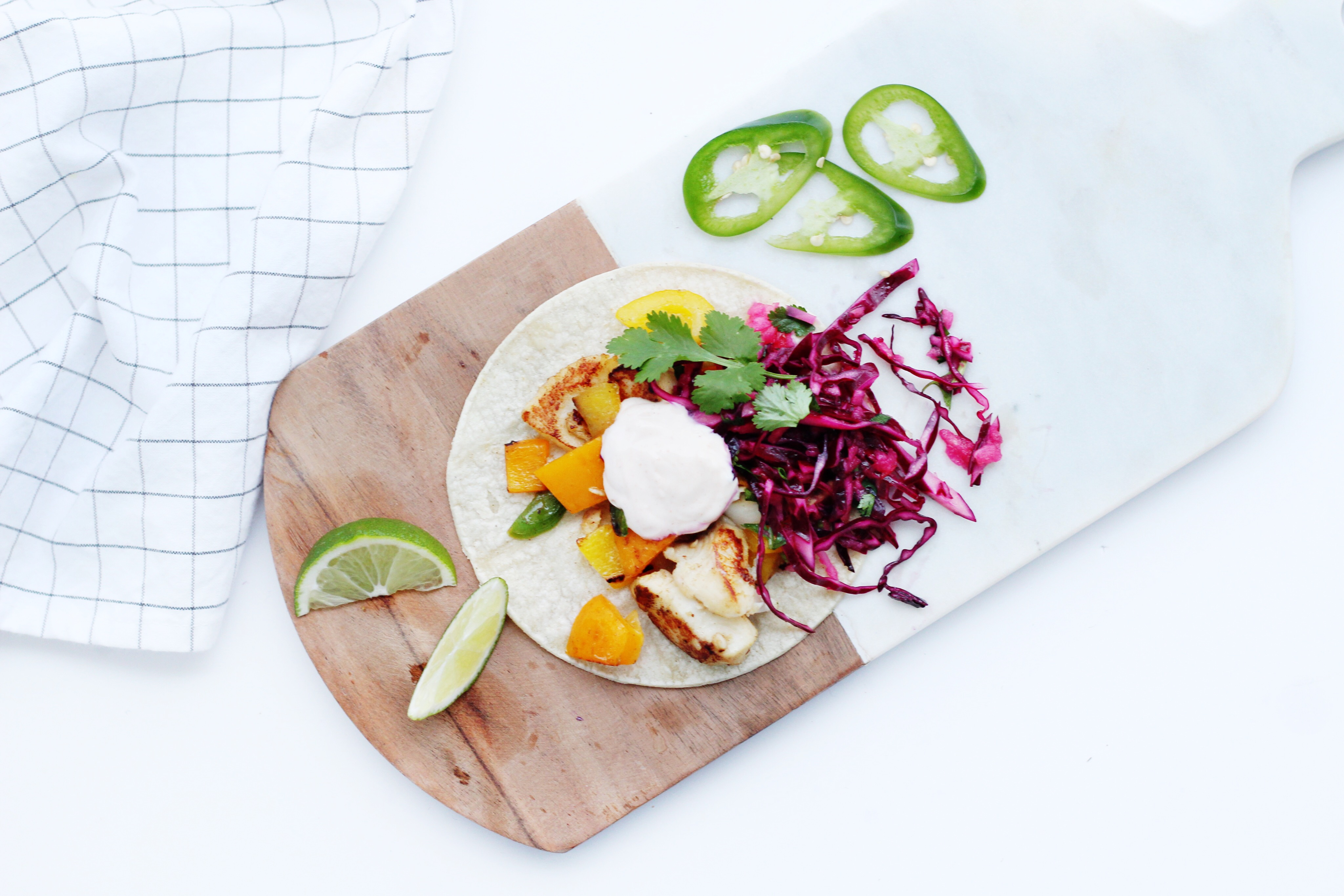 Fish tacos with apple slaw for Side dishes for fish tacos